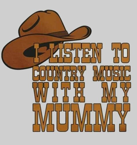 Baby Vests Bodysuits I Listen to Country Music With My Mummy for Boys /& Girls