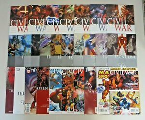 Civil War #1-7 Frontline # 1-11 + One Shots Captain America Iron Man Marvel Set