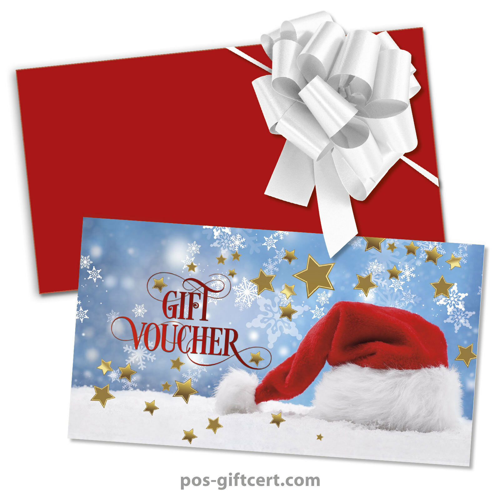 Gift vouchers + envelopes + pull bows for christmas X1294GB