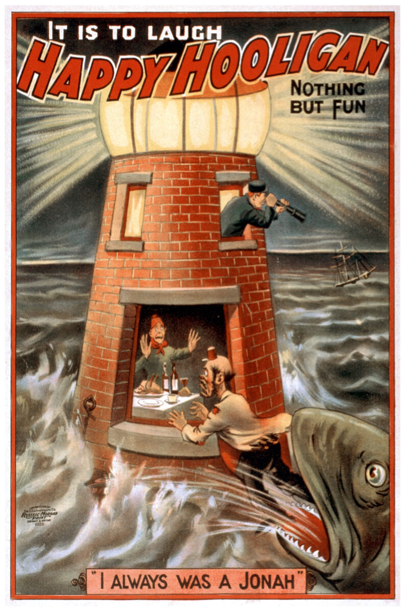 Always a Jonah Victorian POSTER.Stylish Graphics.Vintage Room Decor.407i