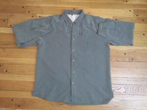 The-North-Face-Men-039-s-Long-Sleeve-Button-Up-Hiking-Shirt-XL-Green-Mesh-Vented