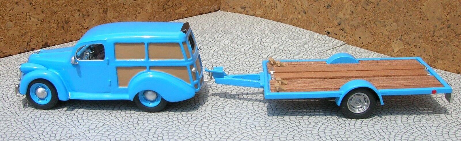 <kit Panhard Dyna-X Break avec chariot de transport Le Mans IV Model Factory1/43
