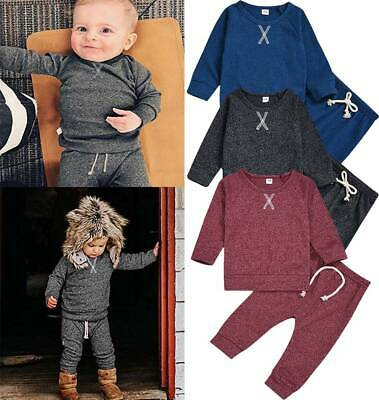 Infant Baby Boys Sport Casual Suit Batman Long Sleeve Tops+Pants Cotton Clothing