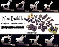 You Build It Tattoo Machine Kit Set-up All Parts W/ Wired Coils You Pick Frame