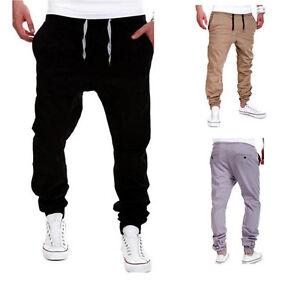 Maenner-Hose-Sweatpants-Pants-Jogginghose-Dance-Sportwear-Baggy-Hose-M-2XL