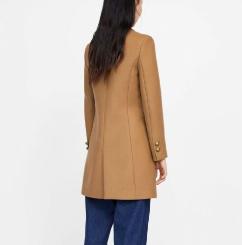With Size S Coat Buttons Metallic Ss19 New Camel Zara Abrigo 2064 Ref 744 qBpwfxgS