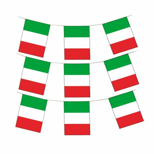 30M Rugby Italy Green White Red Flags Bandiera Italia World Cup Bunting