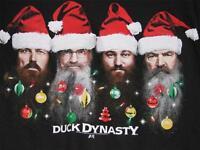 Duck Dynasty Commander Holiday T-shirt Santa Hat Large