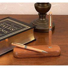 Alex Navarre Durable Bamboo Ballpoint Pen and Pencil Set