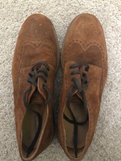 Hombre zapatos de gamuza de extremo de ala ala ala Magnanni tamaño 12D 0a96bf