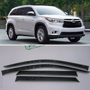 Image Is Loading For Toyota Highlander 2017 2019 Window Visors Side