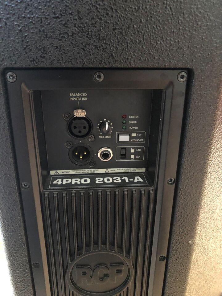 Aktive højtalere, Rcf 4PRO 2031-A