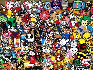 Iron-On-Patch-Embroidered-select-Cartoon-Anime-Cute-Movie-Superhero-Heroes