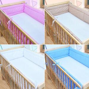 XXXL-Bettumrandung-Nestchen-Kopfschutz-30x350-oder-30x420-NEU-Blau-Weiss-Rosa