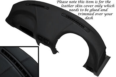 BLACK STITCHING FITS MG MGF MGTF 1995-2005  DASH DASHBOARD LEATHER COVER ONLY