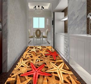 3D colord Starfish 5 Floor WallPaper Murals Wall Print 5D AJ WALLPAPER UK Lemon