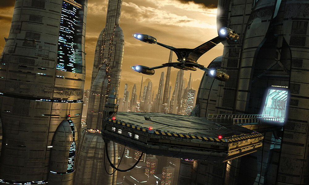 Fototapete Science Fiction Welt - Kleistertapete oder Selbstklebende Tapete