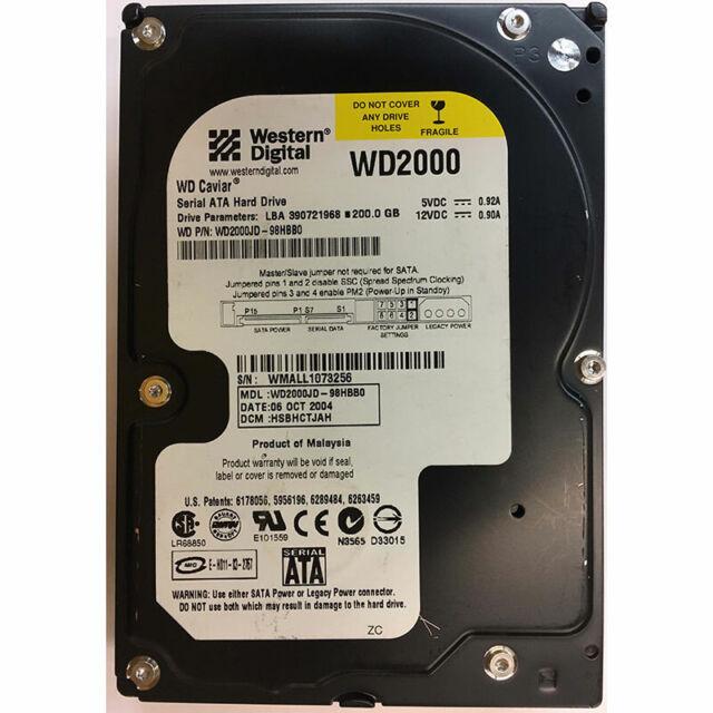 Western Digital 200GB, 7200RPM, SATA - WD2000JD-98HBB0