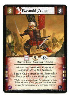 Bayushi Akagi NM/M L5R TCS (or Siege reprint)