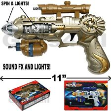 COLOSSUS LIGHT-UP SPACE GUN TOY NEW IN WINDOW BOX FX SOUNDS AND LIGHTS RAY GUN