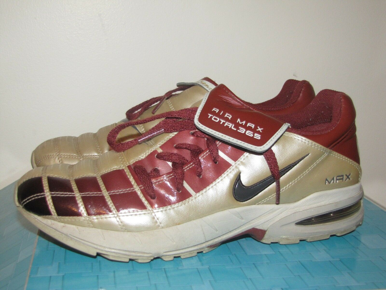 NIKE SHOX MAX AIR ZOOM 365 SOCCER CLEATS SHOES INDOOR TRAINERS US 8