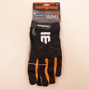 Mongoose-Adult-LARGE-Full-Finger-KNUCKLE-GUARDS-BMX-Mountain-Bike-Bicycle-Gloves