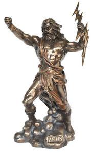 Zeus holding Thunderbolt Veronese Bronze Figurine of The ...