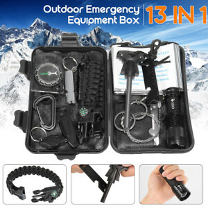 12 in 1 SOS Emergency Camping Survival Equipment Kit Outdoor Tactical Gear Tool