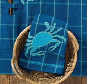 Park Designs Dishtowel Crab Applique Dish Towel Beach ...
