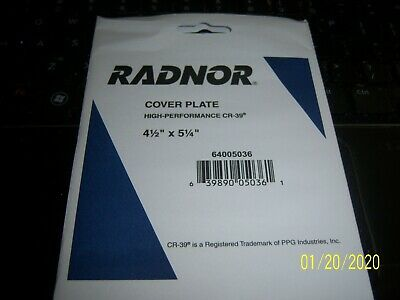 10 NEW RADNOR HIGH PERFORMANCE CR-39 COVER PLATES 4-1//2 X 5-1//4 64005036