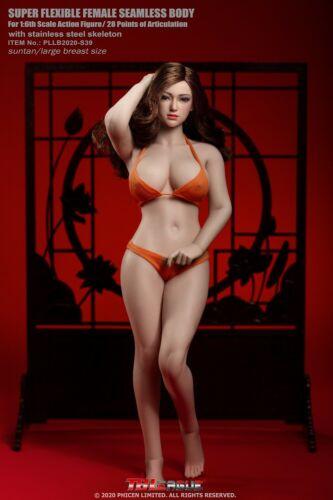 TBLeague 1//6 PHicen S39 Suntan Body Head  Large Female Bust  Figure Stock Doll