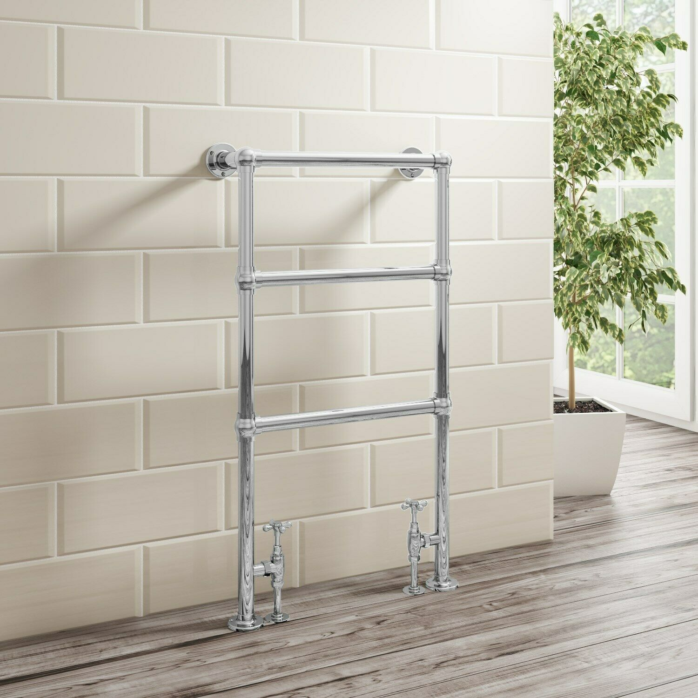 GRADE A1 - Traditional Chrome Bathroom Towel Radiator - 914 x 535mm A1 AVRAD5