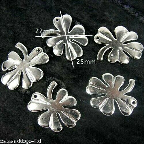 Trébol de cuatro hojas Lucky Irish Encantos Colgante Joyería pulsera con dijes X 10 CH1