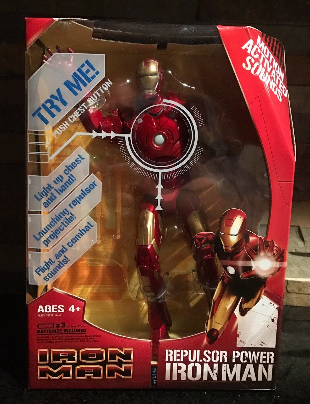 Iron man repulsor macht bewegung aktiviert hasbro 2008