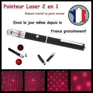 POINTEUR-LASER-ROUGE-2-en-1-PUISSANT-LAZER-POINTER-RED-1mW-STYLO-ETOILE-STAR