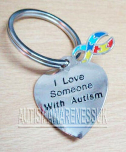 Autism Awareness Jewellery DMDD Aspergers I love someone with Autism Key Ring