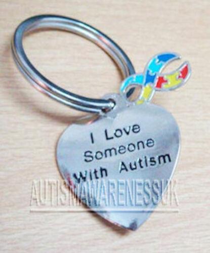 mi piace qualcuno con Autismo Portachiavi Autismo Consapevolezza gioielli Aspergers dmdd