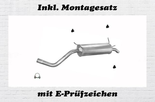 Renault Scenic I 1.6 1.8 2.0  Endschalldämpfer Auspuff Endtopf + Montagesatz