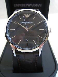 373f5aa18184 La imagen se está cargando EMPORIO-ARMANI-reloj-AR2480-Para-Hombre-De-Cuero-
