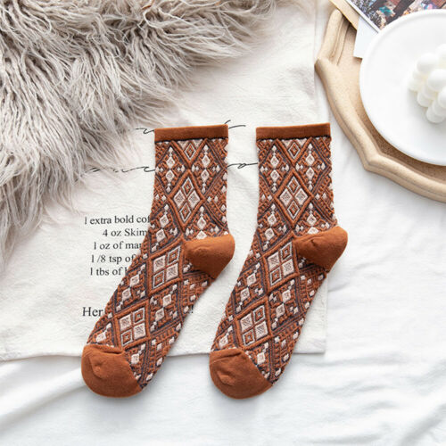 Women/'s Socks Cotton Soft Vintage Streetwear Long Socks Japanese Socks