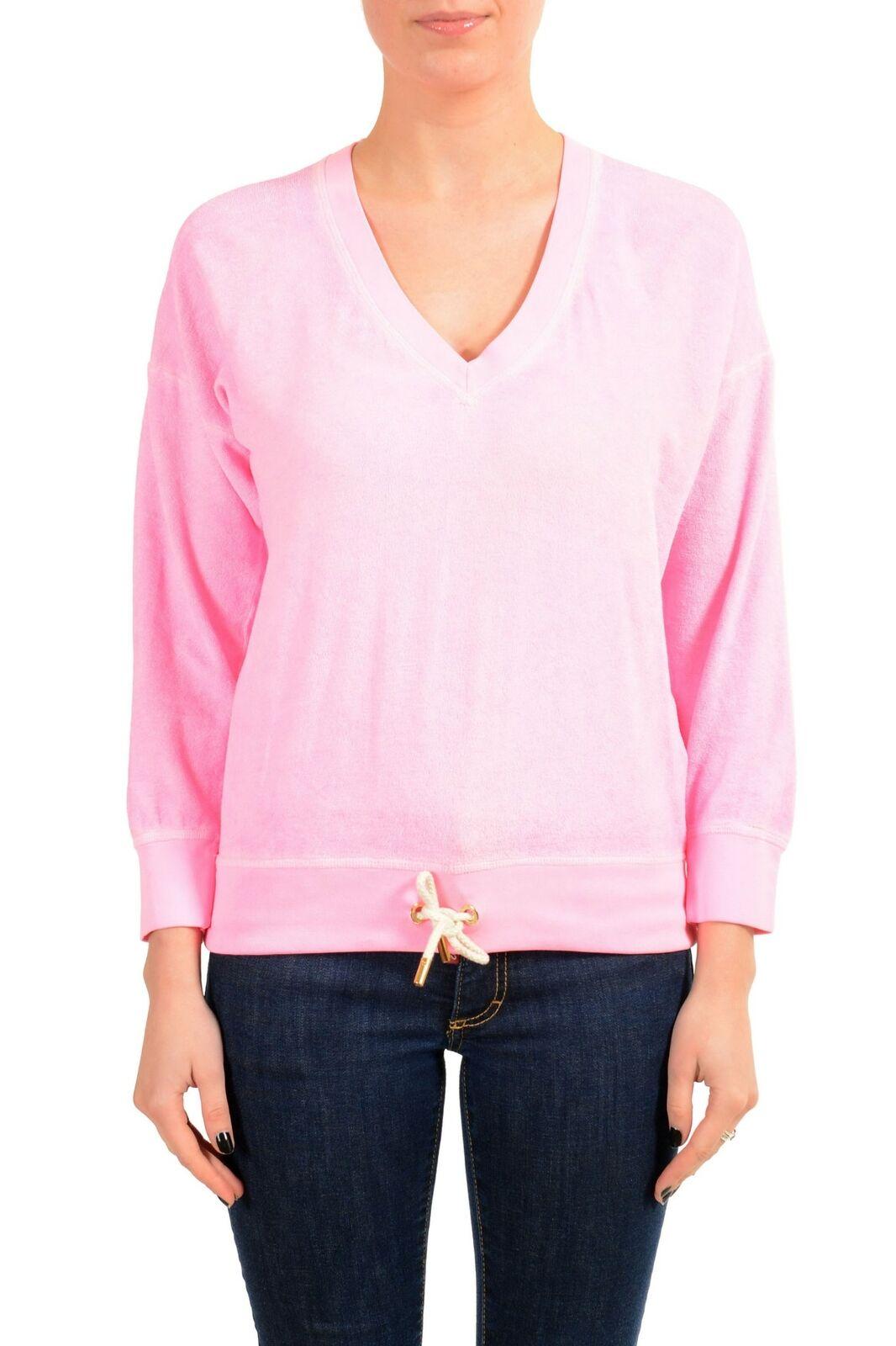 Dsquared2 Damen Pink V-Ausschnitt Sweatshirt Größe M L XL