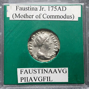 Ancient-Roman-Coin-Faustina-Jr-175-AD-Mother-of-Commodus-Concordia-rev-47787