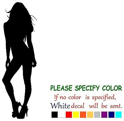 "Sexy Silhouette Pin Up Girl Funny Vinyl Decal Sticker Car Window Laptop 12"" Hoge Veiligheid"