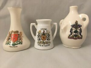 Crested-China-Glasgow-Arms-Of-Scotland-Aberdeen-W-H-Goss-Willow