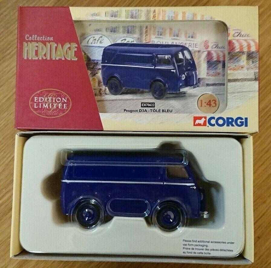 Corgi EX70622 Peugeot D3A TOLE blue Ltd Edition No. 0003 of 2000