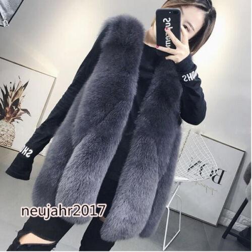 Wassertröpfchen Damenmode Pelzweste Jacken Mantel Luxus Faux Pelz TOP draussen
