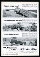 1956 Willys Jeep FC-170 pickup and chassis cab truck pix vintage trade print ad