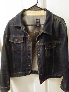 Gap-Women-s-Blue-Jean-Denim-Jacket-Stretch-Button-Front-Classic-Size-XL