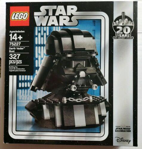 NIB LEGO Star Wars Darth Vader Bust 75227 2019 20 Years Celebration EXCLUSIVE