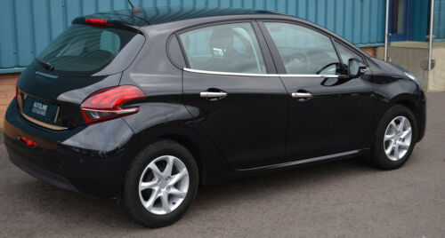 2012+ Chrome Side Door Window Sill Trim Set Covers To Fit Peugeot 208
